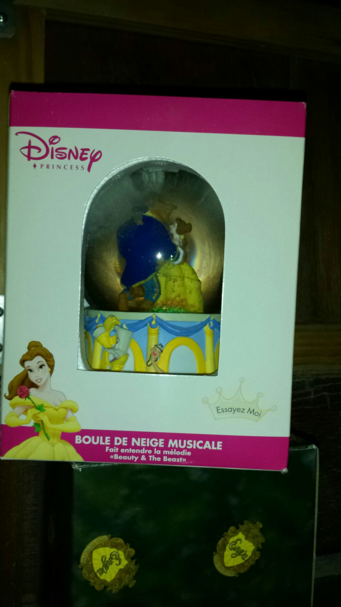 Beauty & The Beast Snowglobe (Disney Traditions / Enesco) back image (back cover, second image)
