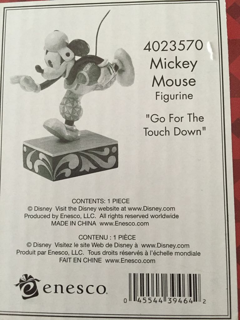Go for The touchdown Mickey Mouse Snowglobe (Disney Traditions / Enesco) front image (front cover)