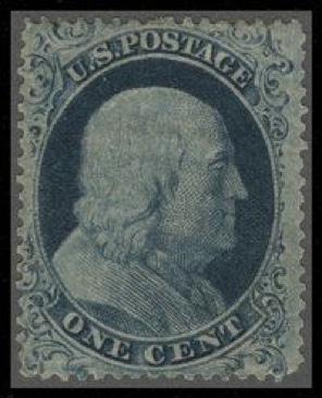 1861 1c Franklin Stamp - USA (U.S. Postage) front image (front cover)