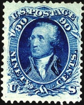 1861 90c Washington Stamp - USA (U.S. Postage) front image (front cover)