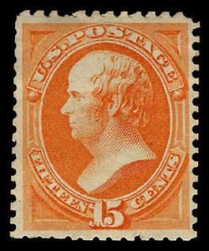 1875 15c Webster Continental Stamp - USA (U.S. Postage) front image (front cover)