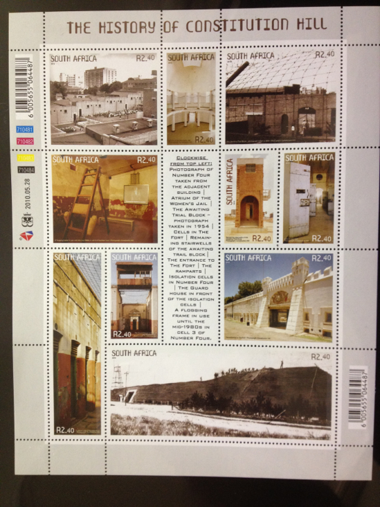 The History Of Constituition Hill Stamp - South Africa front image (front cover)
