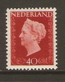 Koningin Wilhelmina Stamp - Dutch (Hartz(40)) front image (front cover)