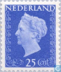 Koningin Wilhemina Stamp - Dutch (Hartz(25)) front image (front cover)