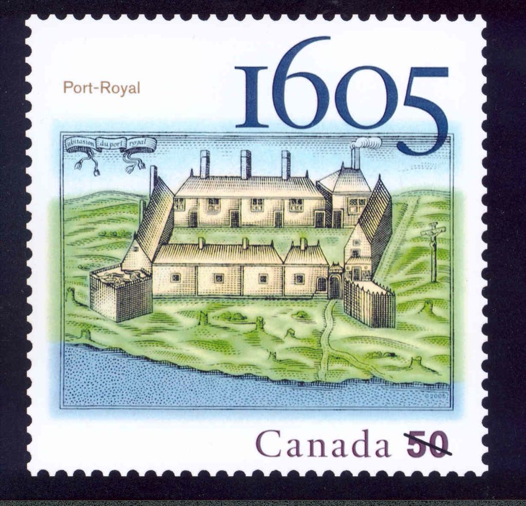 Port-Royal 1605 Stamp - Canada (Corner Block: Upper Left) front image (front cover)