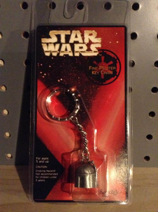 Boba Fett Pewter Keychain Star Wars - Rawcliffe Corp (1997) front image (front cover)