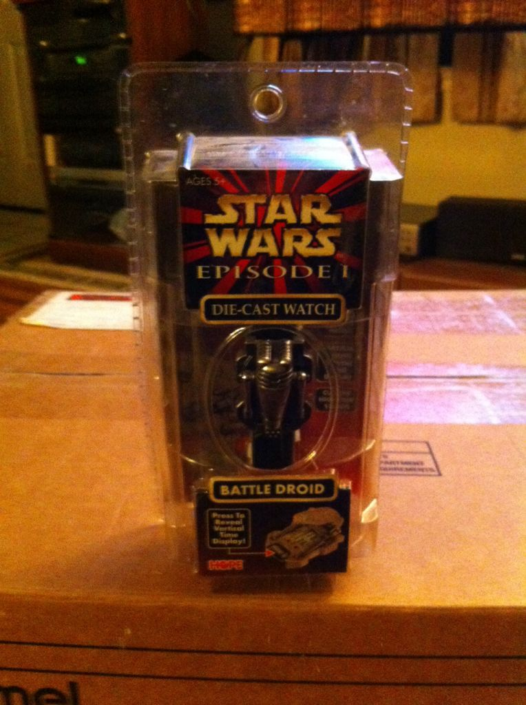 Battle Droid Die Cast Watch Star Wars front image (front cover)