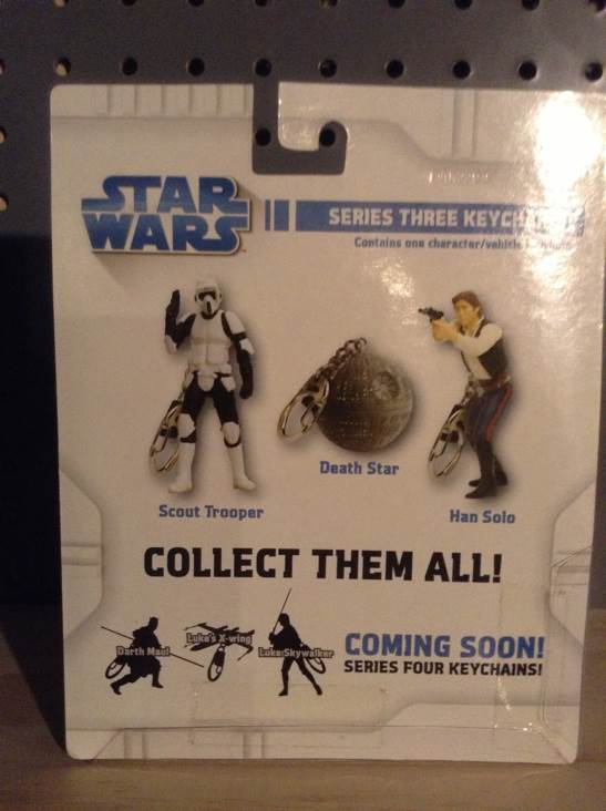 Han Solo Keychain Star Wars - Basic Fun (2009) back image (back cover, second image)