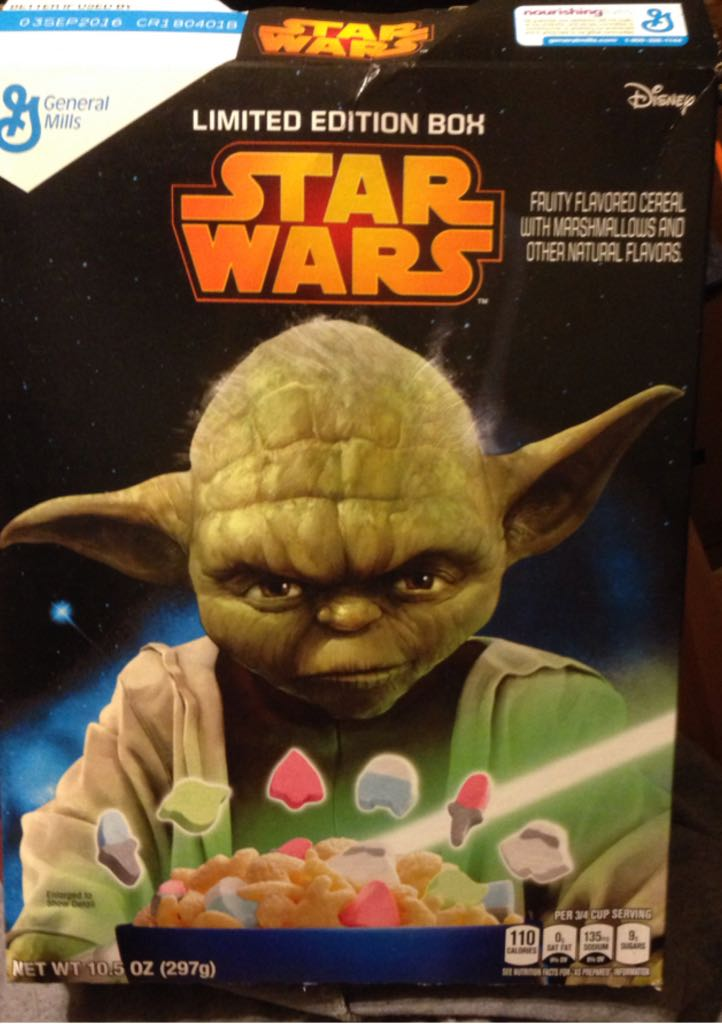 Star Wars Cereal Box Star Wars - General Mills (2015) front image (front cover)