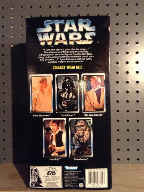 Han Solo Collector Series Star Wars - Kenner (1996) back image (back cover, second image)