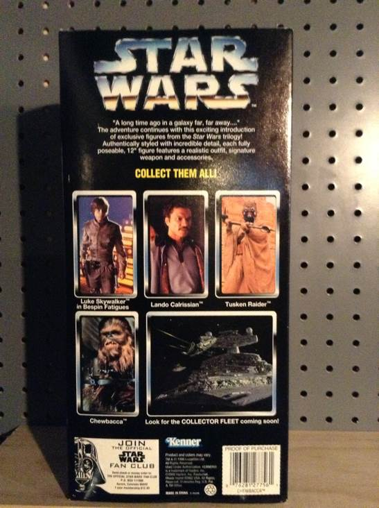 Chewbacca Collector Series Star Wars - Kenner (1996) back image (back cover, second image)