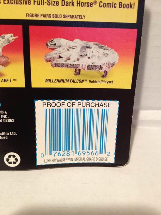 Shadows Of The Empire. Luke Skywalker Star Wars - Hasbro (1996) back image (back cover, second image)