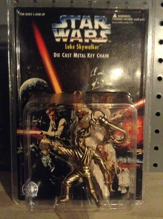 Star Wars Luke Skywalker Metal Key Chain Action Figure Star Wars - Placo (1996) front image (front cover)