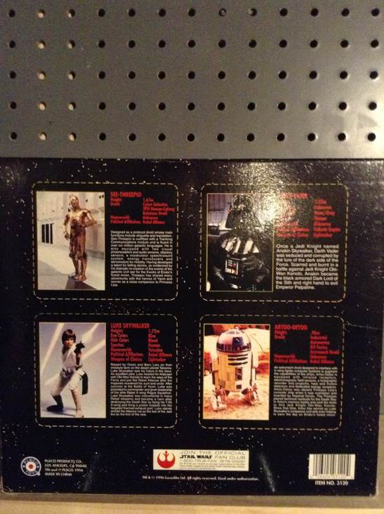 Die Cast Metal Key Chain Set Star Wars - Placo (1996) back image (back cover, second image)