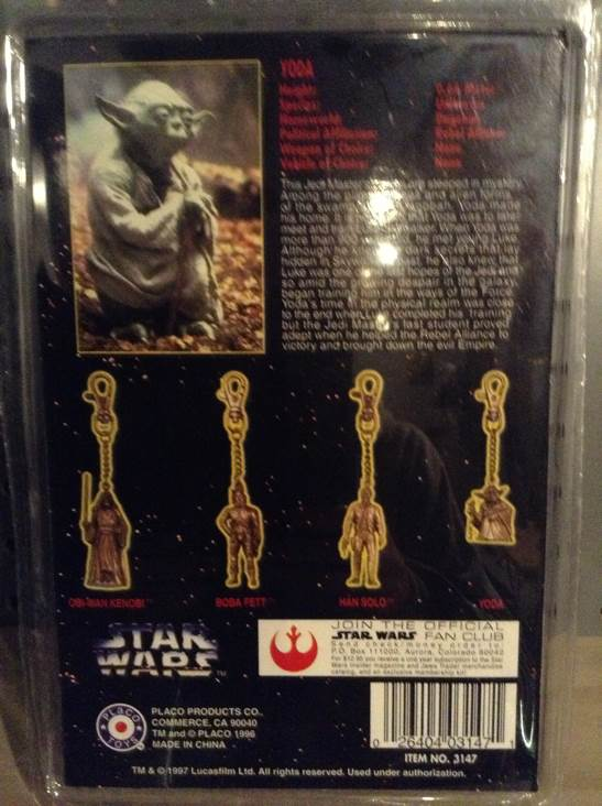 Yoda Metal Keychain Star Wars - Placo (1996) back image (back cover, second image)