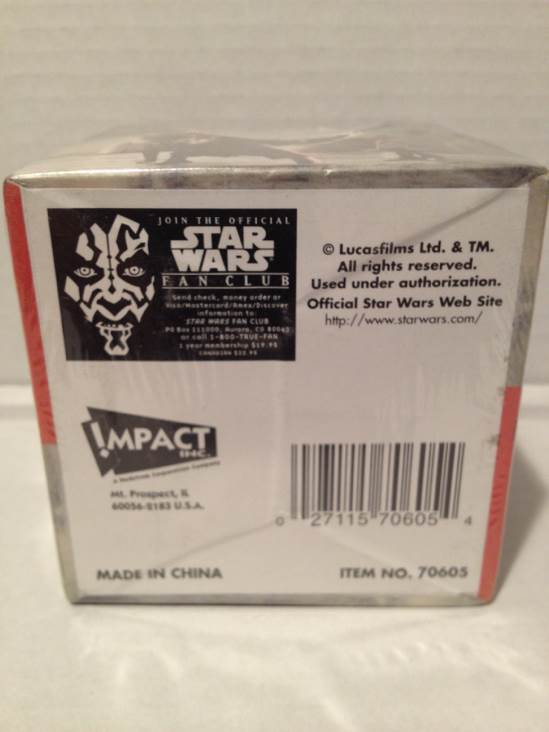 Darth Maul Note Pad Star Wars back image (back cover, second image)