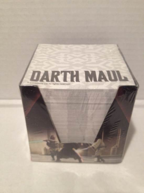 Darth Maul Note Pad Star Wars front image (front cover)