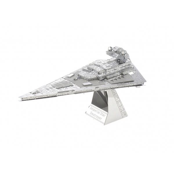 Metal Earth 3D metal model kits: Imperial Star Destroyer Star Wars - Fascinations (2014) back image (back cover, second image)