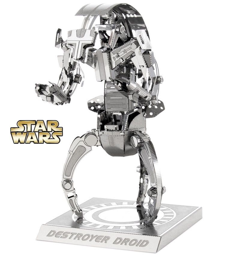 Metal Earth 3D Metal model kits: Destroyer Droid Star Wars - Disney (2015) front image (front cover)