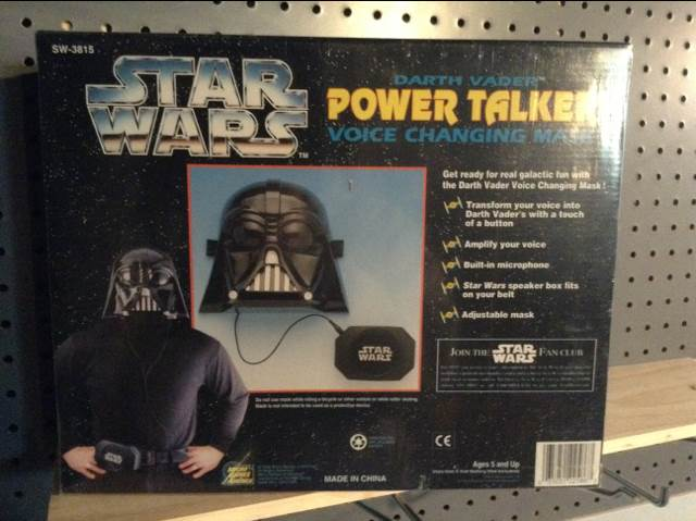 Darth Vader Power Talker Star Wars - Micro Games Of America (1995) back image (back cover, second image)