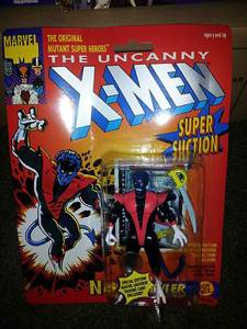 Uncanny X-men - Nightcrawler With Super Suction (1991, Toy Biz)(cb) Vfn/nm Star Wars - Toy Biz (1991) front image (front cover)