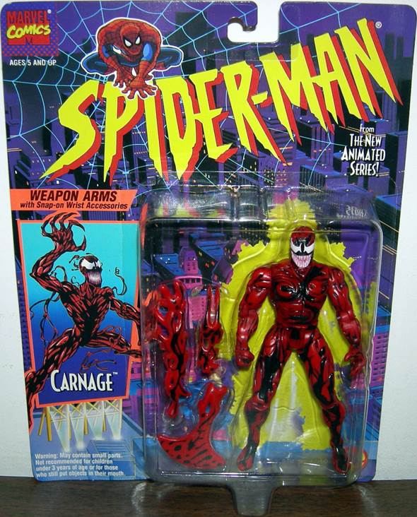 Carnage (Spider-Man Animated) Star Wars - Toy Biz (1994) front image (front cover)