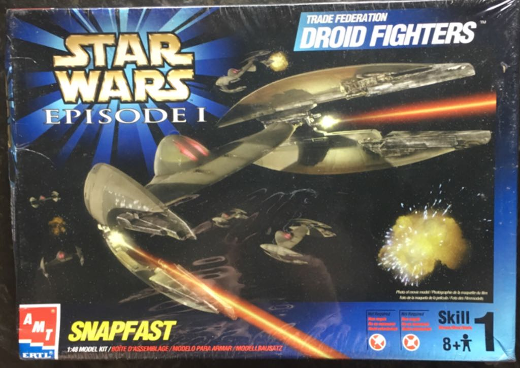 Star Wars - Snapfast Trade Federation Droid Fighters Star Wars - The ERTL Company, Inc. (1999) front image (front cover)