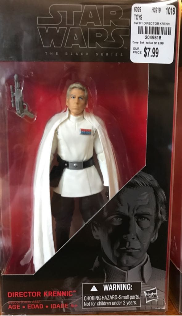Director Krennic Star Wars - Disney Hasbro (2016) front image (front cover)