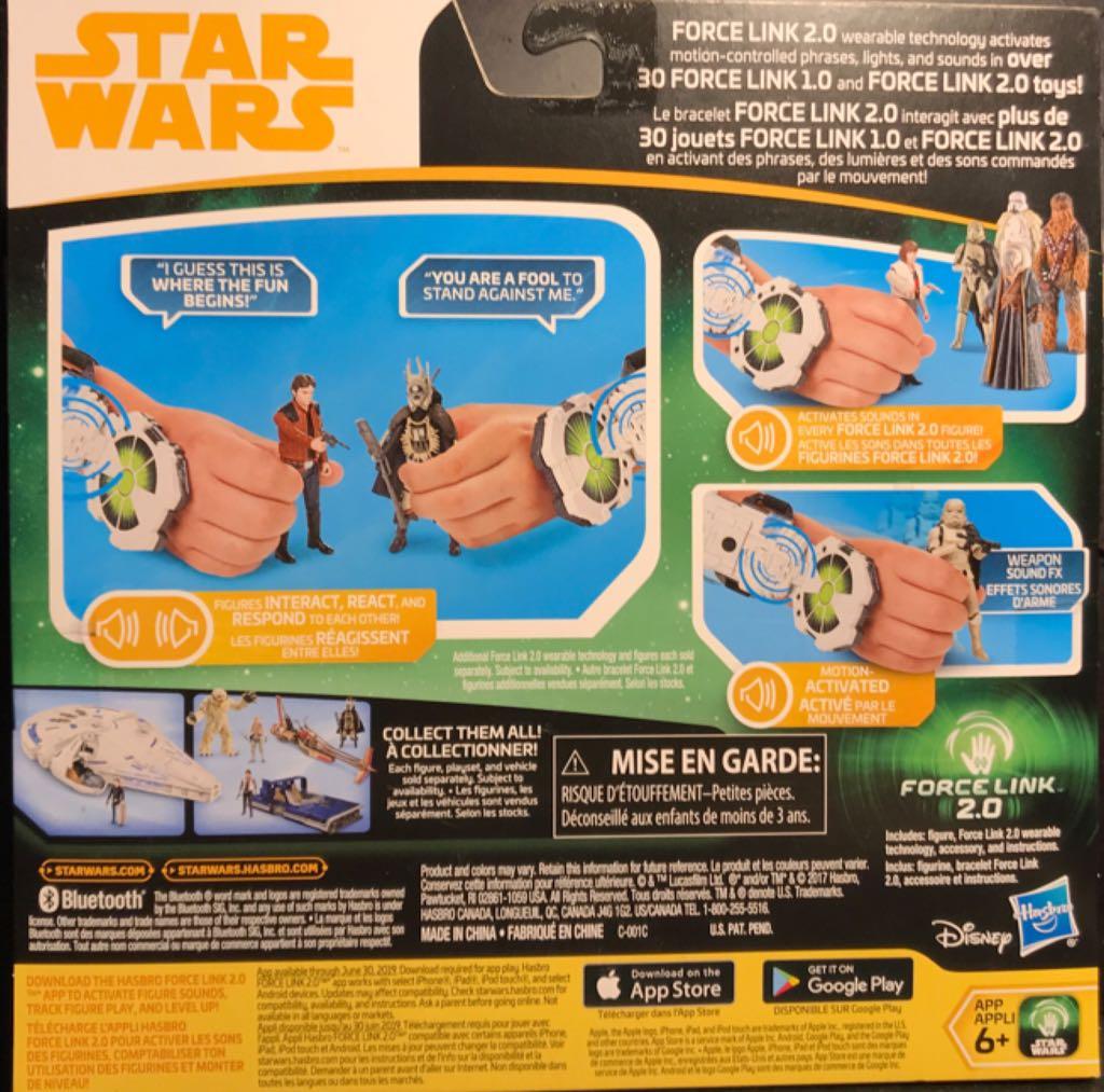 Han Solo - Force Link 2.0 Starter Kit Star Wars - Force Link 2.0 (2017) back image (back cover, second image)