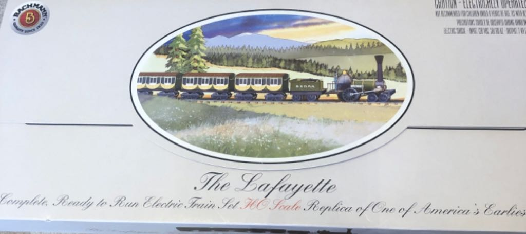 Lafayette B&O Transit Train - Bachmann (Early American Train) front image (front cover)