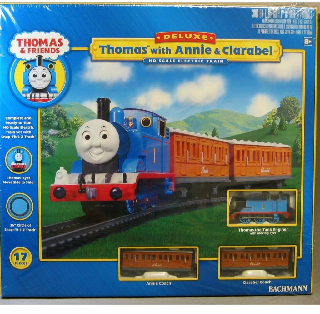 Thomas With Annie & Clarabel Electric Train Set Train - Bachman front image (front cover)