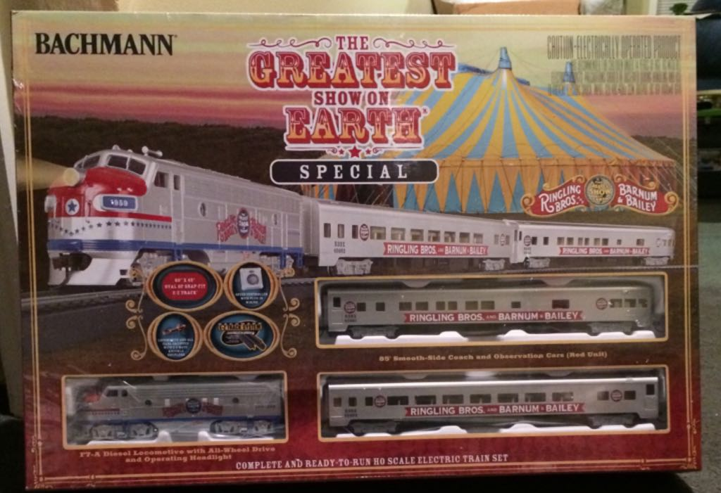 Bachmann The Greatest Show On Earth Special Train - Bachmann back image (back cover, second image)