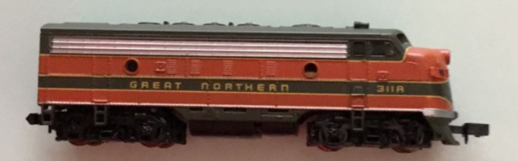 Great Northern EMD F7A #311A Train - Bachmann (Deisel Locomotive) back image (back cover, second image)