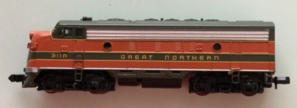 Great Northern EMD F7A #311A Train - Bachmann (Deisel Locomotive) front image (front cover)