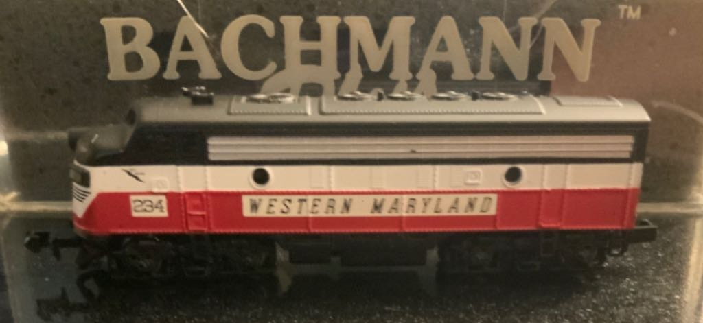 WM #234 Train - Bachman (EMD F7A) back image (back cover, second image)