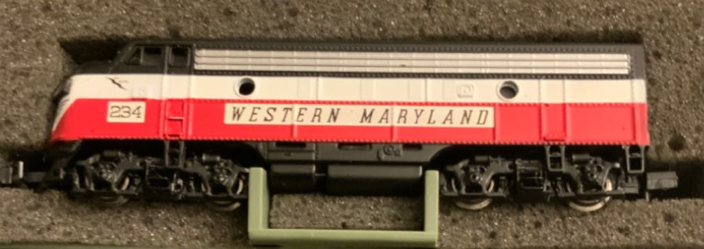 WM #234 Train - Bachman (EMD F7A) front image (front cover)