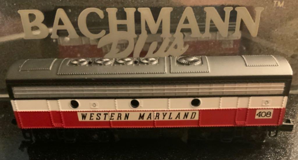 WM #408 Train - Bachman (EMD F7B) back image (back cover, second image)