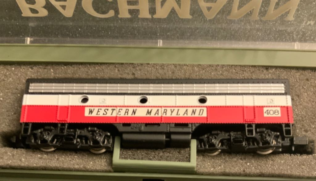 WM #408 Train - Bachman (EMD F7B) front image (front cover)