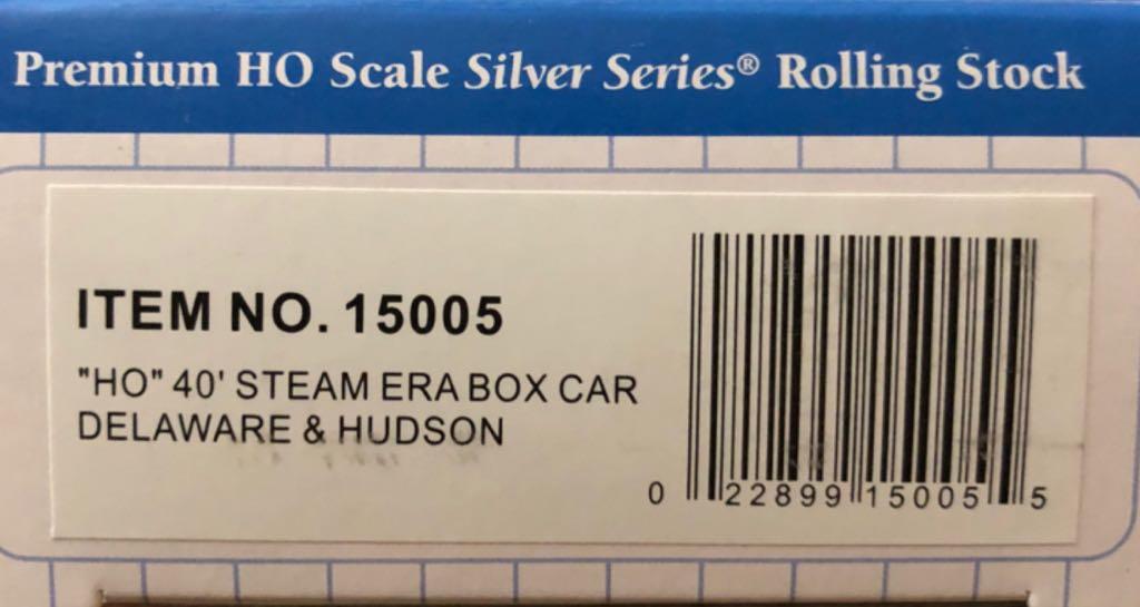 Boxcar, Steel, D&H, 17626 Train - Bachmann Silver Series (40' Steel Boxcar) back image (back cover, second image)
