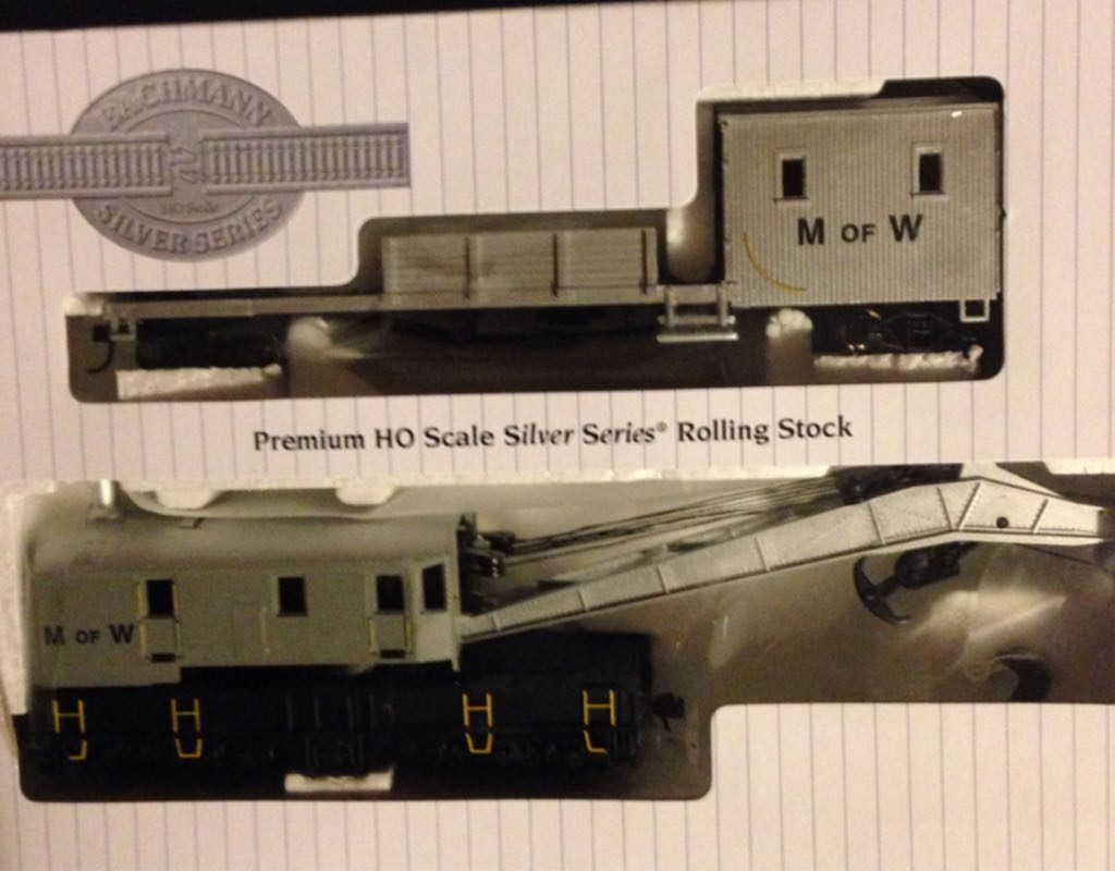 Maintenance Of Way, 250 Ton Crane Cars & Boom Tender Train - Bachmann (250 Ton Crane Car And Boom Tender) front image (front cover)