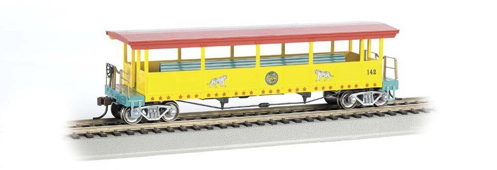 Open Sided Excursion Car, Tingling Bros Train - Bachmann Silver Series (Excursion Car) front image (front cover)
