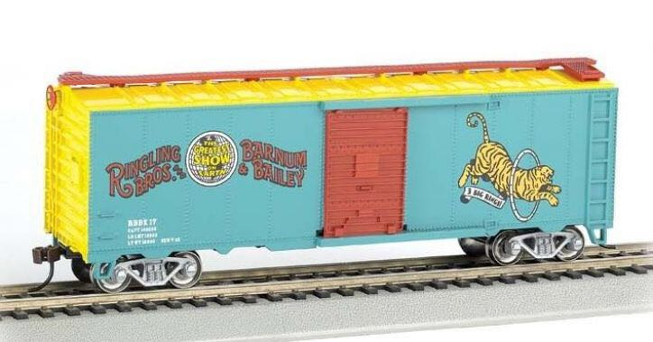 Stock Car, Ringling Bros, Tiger Train - Bachmann Silver Series (Stock Car) front image (front cover)