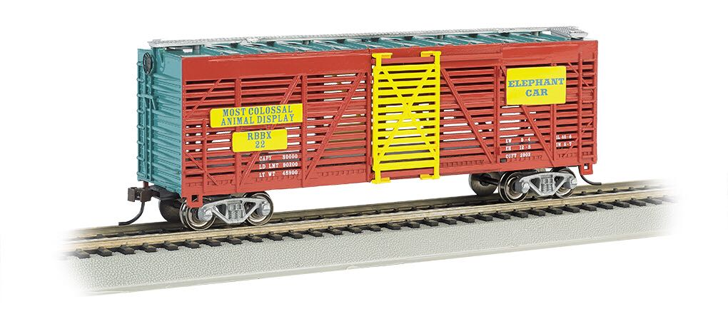Box Car, Ringling Bros, Elephant Train - Bachmann Silver Series (Stock Car) front image (front cover)