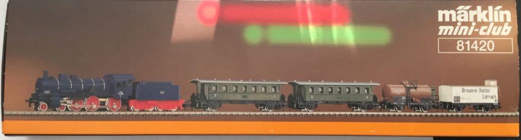 Marklin #81420 Bade Steam Locomotive Passenger/Freight Set Train - Marklin (Train Set) back image (back cover, second image)