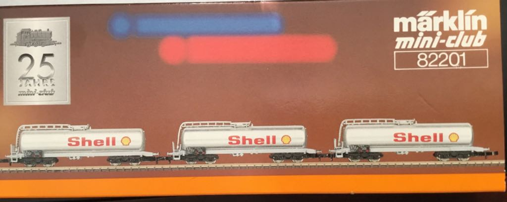 Marklin #82201 3 Car Shell Oil Set Train - Marklin (Train Set) back image (back cover, second image)