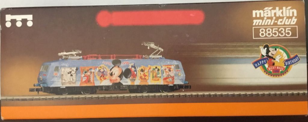 Marklin #88535 Electric Engine Mickey Mouse 70th Birthday Train - Marklin (Electric Locomotive) back image (back cover, second image)