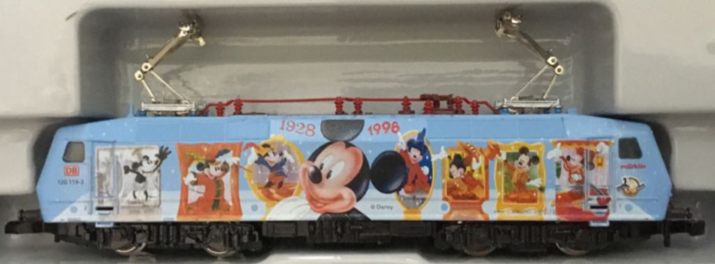 Marklin #88535 Electric Engine Mickey Mouse 70th Birthday Train - Marklin (Electric Locomotive) front image (front cover)
