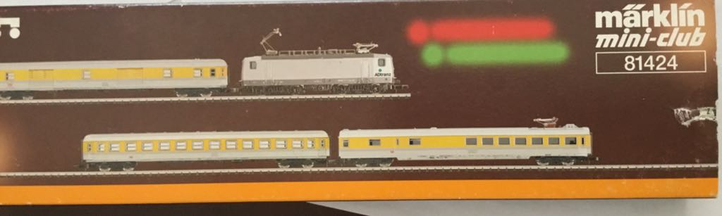 Marklin #81424 Measurement Train Set Train - Marklin (Train Set) back image (back cover, second image)