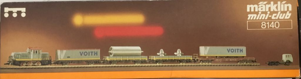 Marklin #8140 Voith Industrial Train Train - Marklin (Train Set) back image (back cover, second image)