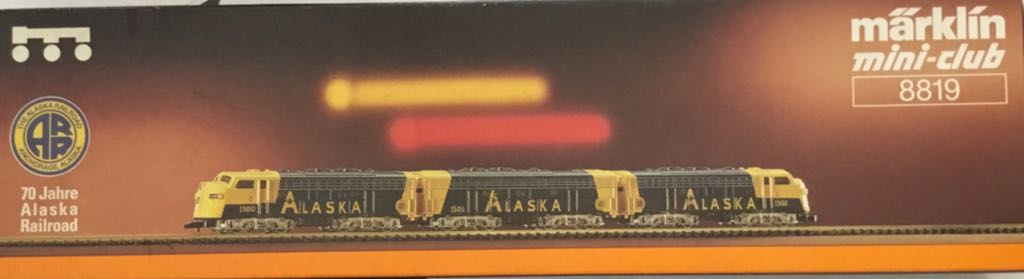 Marklin #8819 Alaska 3 Engine Set Train - Marklin (Train Set) back image (back cover, second image)